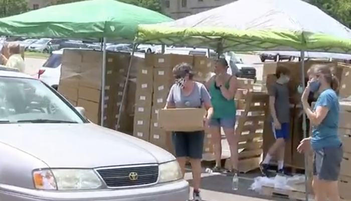 "Catholic Charities ""Freestore Foodbank Distribute Meals To Families In Need"" Featured On FOX 19 News"