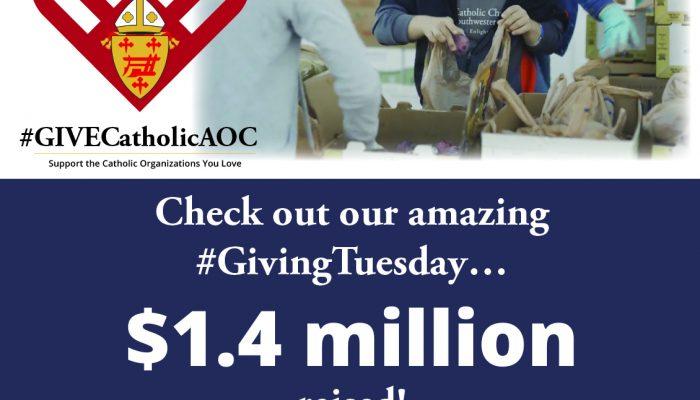 #GIVECatholicAOC Raises $1.4 Million!